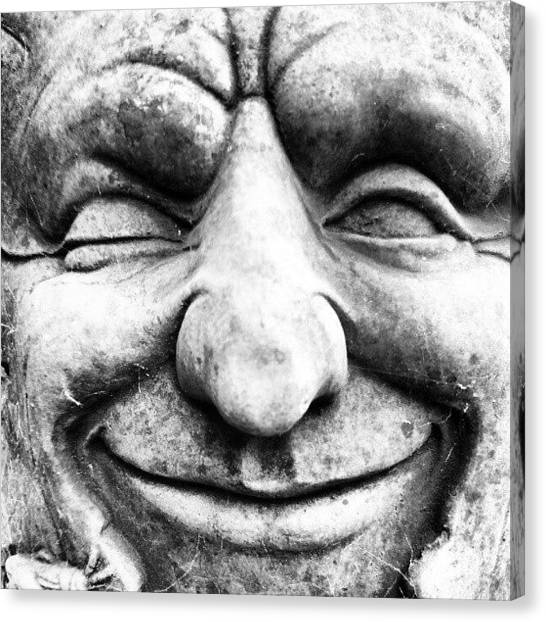Face Canvas Print - Wink by Gary Stringer