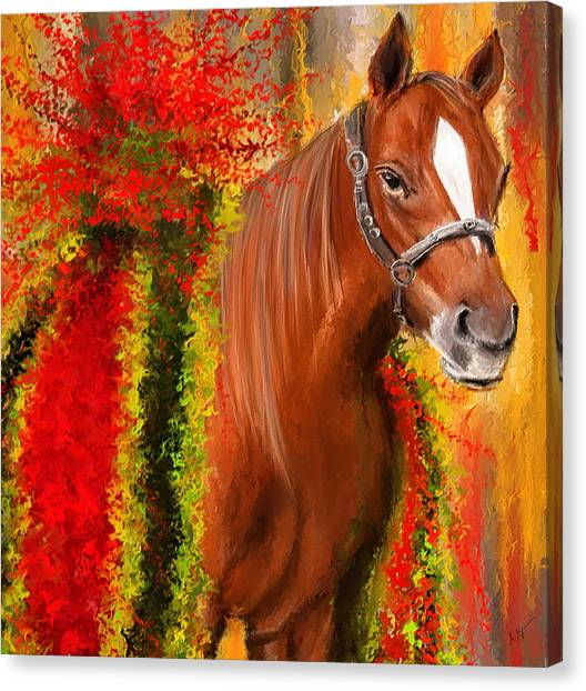 Horseracing Canvas Print - Winner Is - Derby Champion by Lourry Legarde