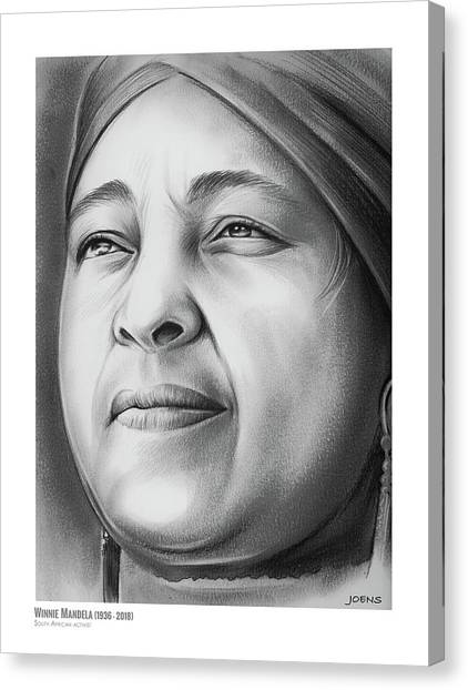 South Africa Canvas Print - Winnie Mandela by Greg Joens