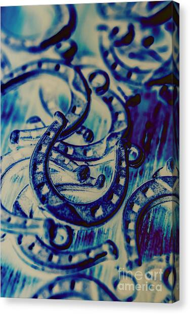 Abstract Horse Canvas Print - Winning Blue Country Tokens by Jorgo Photography - Wall Art Gallery