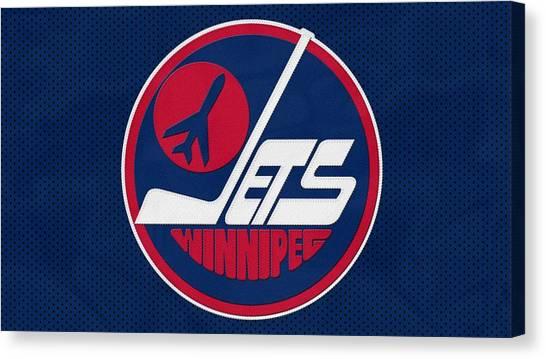 Winnipeg Jets Canvas Print - Winnipeg Jets by Eloisa Mannion
