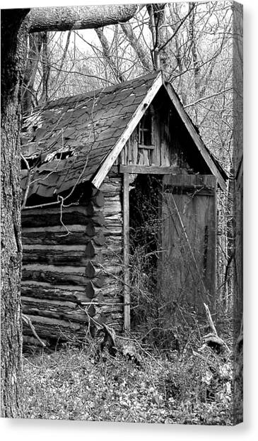 Winslowouthouse Canvas Print by Curtis J Neeley Jr