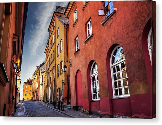 Eastern Europe Canvas Print - Winsome Warsaw  by Carol Japp