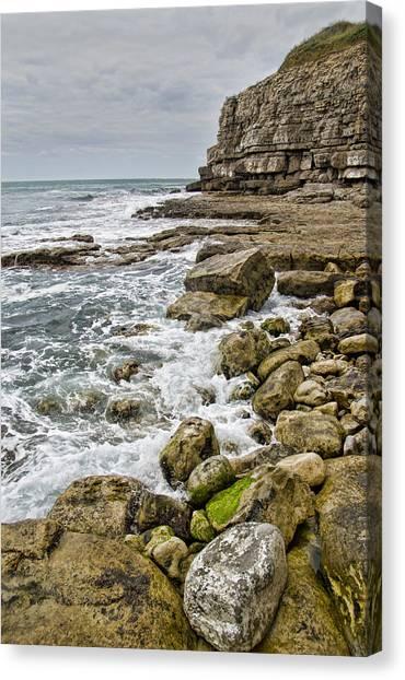 Winspit Cove In Dorset Canvas Print