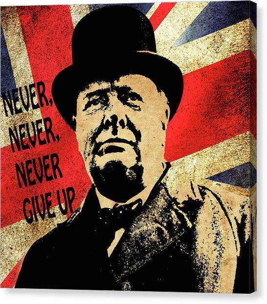 Winston Churchill 2 Canvas Print