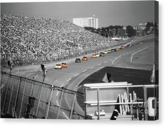 Daytona 500 Canvas Print - Winston Cup Racing In Daytona 1995 by John Black