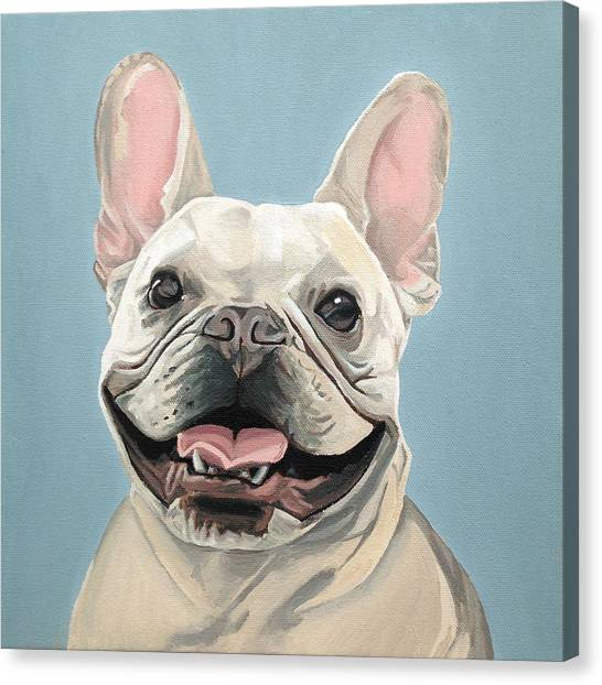 Canvas Print featuring the painting Winston by Nathan Rhoads