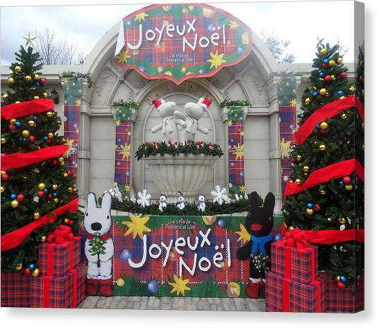 Fairies Canvas Print - Winter Amusement Park by Kanna Fairy
