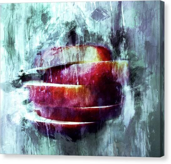 Design Canvas Print - Winter Apple Modern Art by Georgiana Romanovna