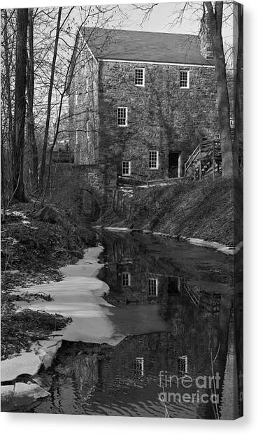Winter At Cooper Mill Canvas Print