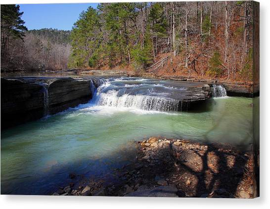 Winter At Haw Creek Falls Canvas Print