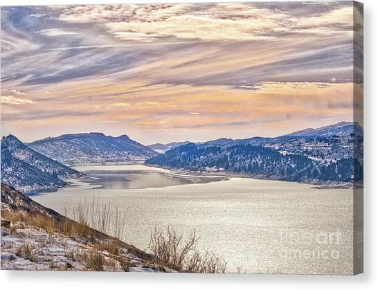 Winter At Horsetooth Reservior Canvas Print