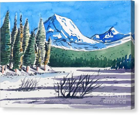 Winter At Mt. Lassen Canvas Print