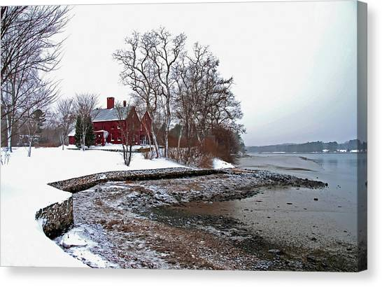 Winter At Perkins House  Canvas Print
