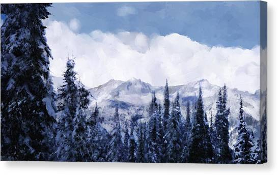 Winter At Revelstoke Canvas Print