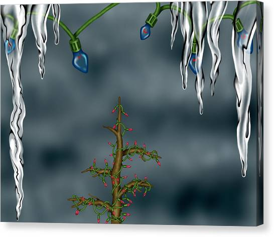 Winter Background Canvas Print