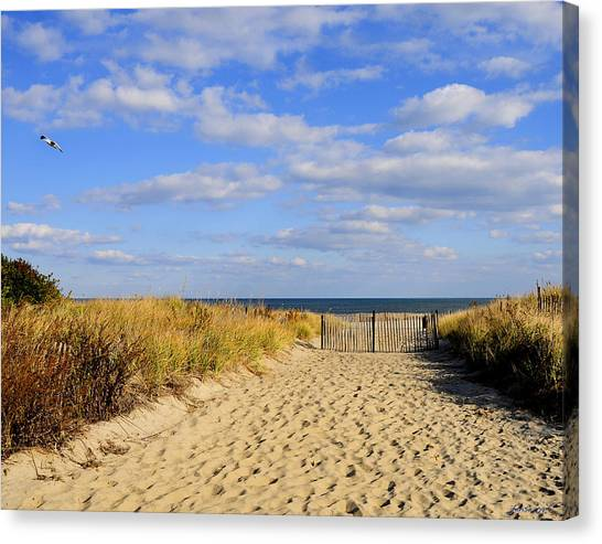 Winter Beach Sky Canvas Print