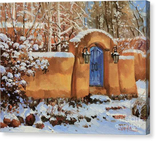 Kim Canvas Print - Winter Beauty Of Santa Fe by Gary Kim