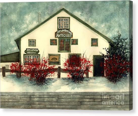 Winter Berries - Old Lumberyard Antiques Canvas Print