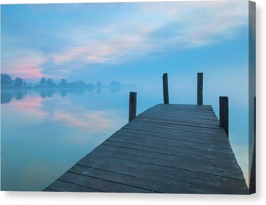 Canvas Print featuring the photograph Winter Blues by Davor Zerjav