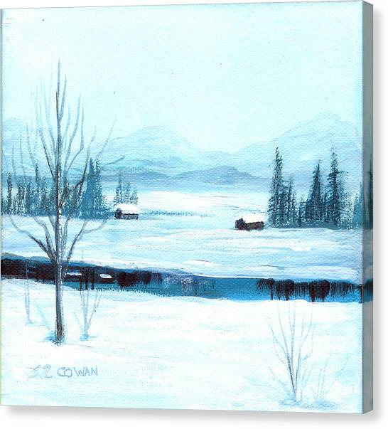 Winter Blues Canvas Print by SueEllen Cowan