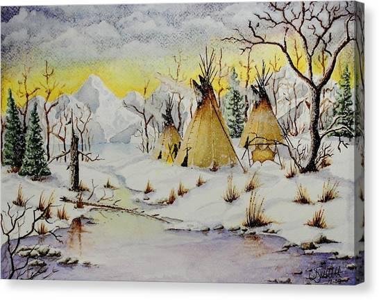 Winter Camp Canvas Print