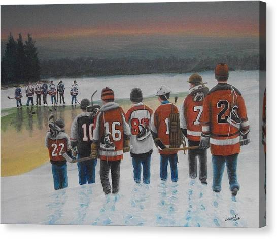 Flyer Canvas Print - Winter Classic 2012 by Ron  Genest