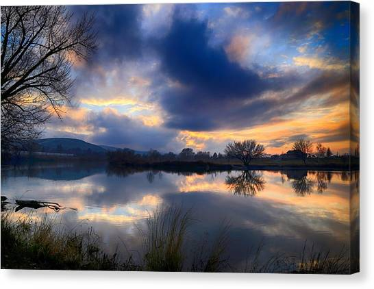 Winter Colors At Sunset Canvas Print