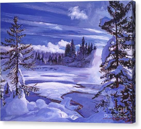 Winter Canvas Print by David Lloyd Glover