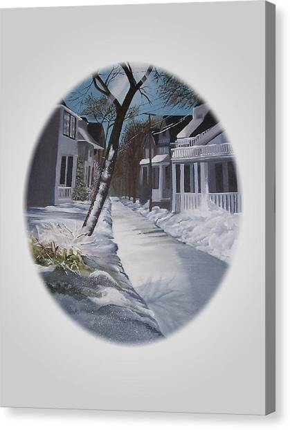 Winter Day Canvas Print by Kathleen Romana