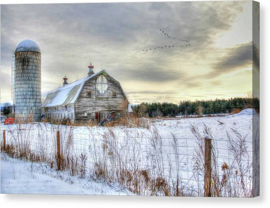 Winter Days In Vermont Canvas Print