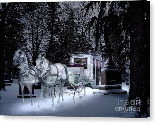 Winter Departure   Canvas Print by Tom Straub