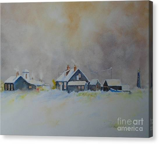 Winter Dungeness Canvas Print