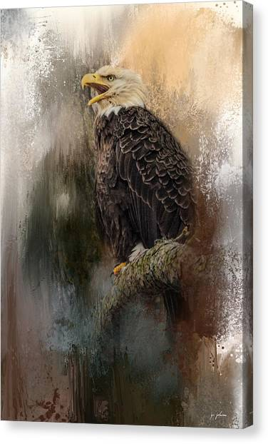Winter Eagle 3 Canvas Print