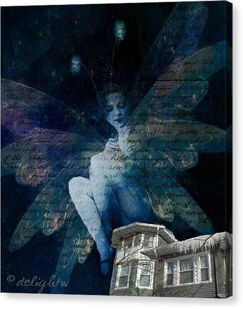 Canvas Print featuring the digital art Winter Fairy by Delight Worthyn