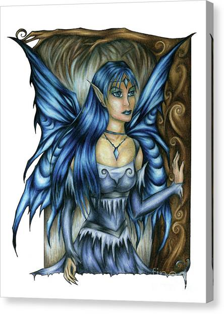 Winter Fairy Drawing Canvas Print