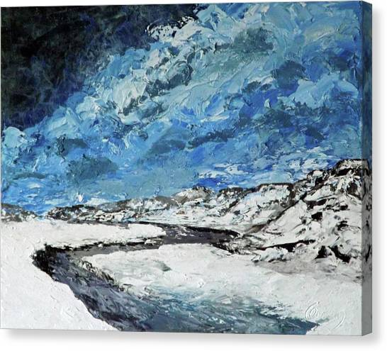 Winter Filled Arroyo Canvas Print