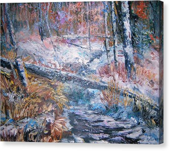 Winter Forest Canvas Print by Judy Groves