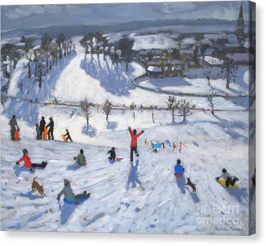 Christmas Canvas Print - Winter Fun by Andrew Macara