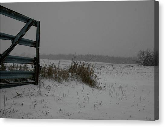 Canvas Print featuring the photograph Winter Gate by Dylan Punke