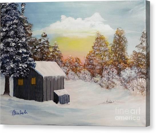 Winter Getaway Canvas Print