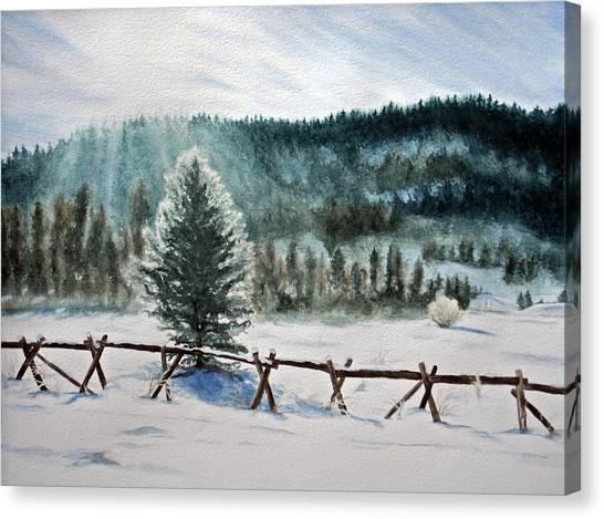 Winter Glow Canvas Print by Monika Degan