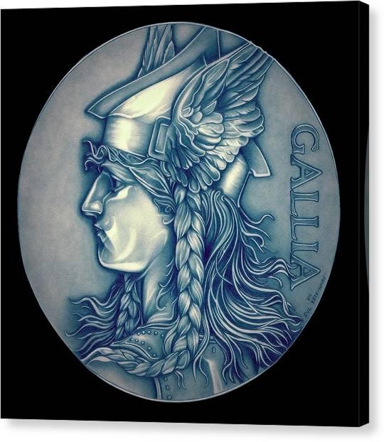 Warrior Goddess Canvas Print - Winter Goddess Of Gaul by Fred Larucci