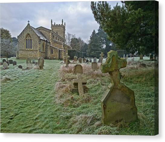 Winter Graveyard Canvas Print
