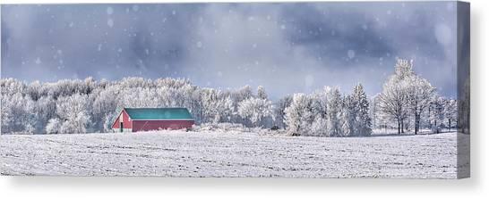 Winter Grey County Canvas Print
