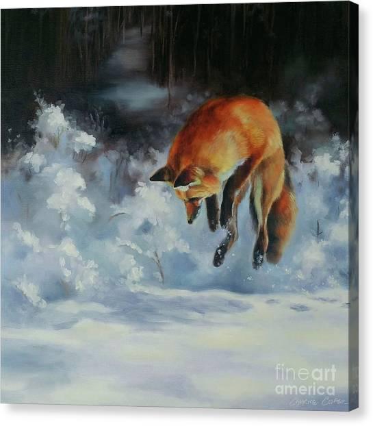 Winter Hunt Canvas Print