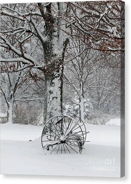 Winter Hush Canvas Print by Diane E Berry