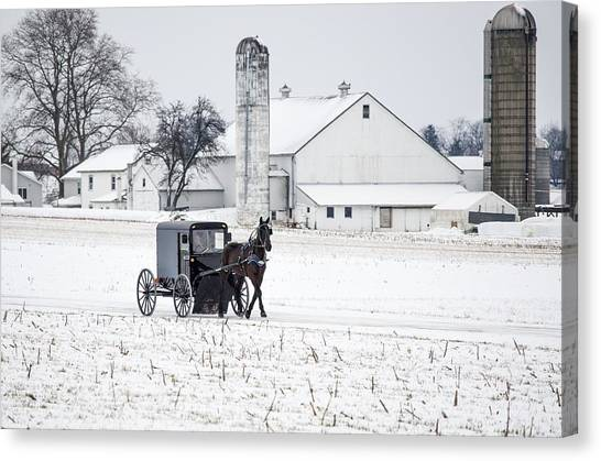Brian Wilson Canvas Print - Winter In Amish Country by Brian Wilson