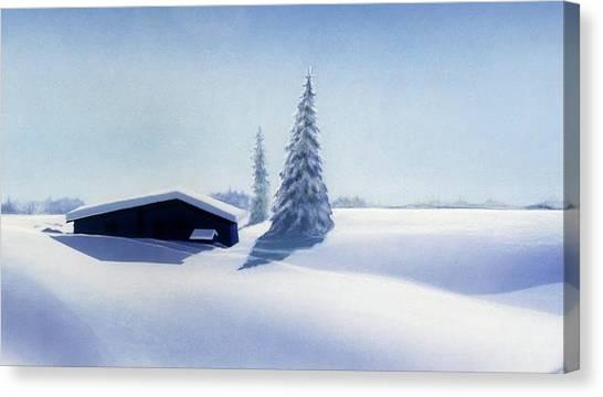 Canvas Print - Winter In Austria by Johannes Margreiter