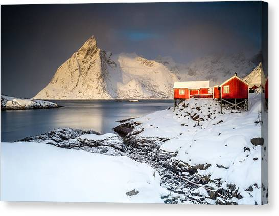 Winter In Lofoten Canvas Print